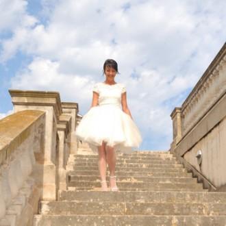 CT Bride: Blanca y de corto va la novia.
