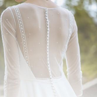 Transparencias elegantes en vestidos de novia