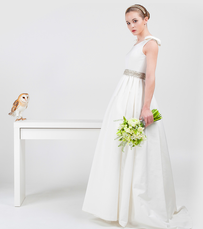Vestido novia con cinturón