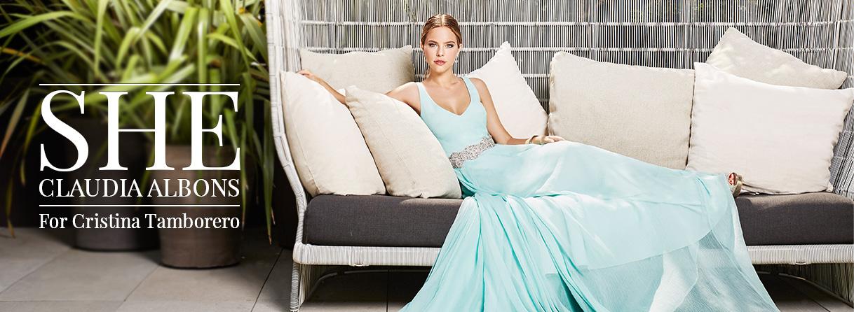 Diseño Cristina Tamborero vestidos por Claudia Albons