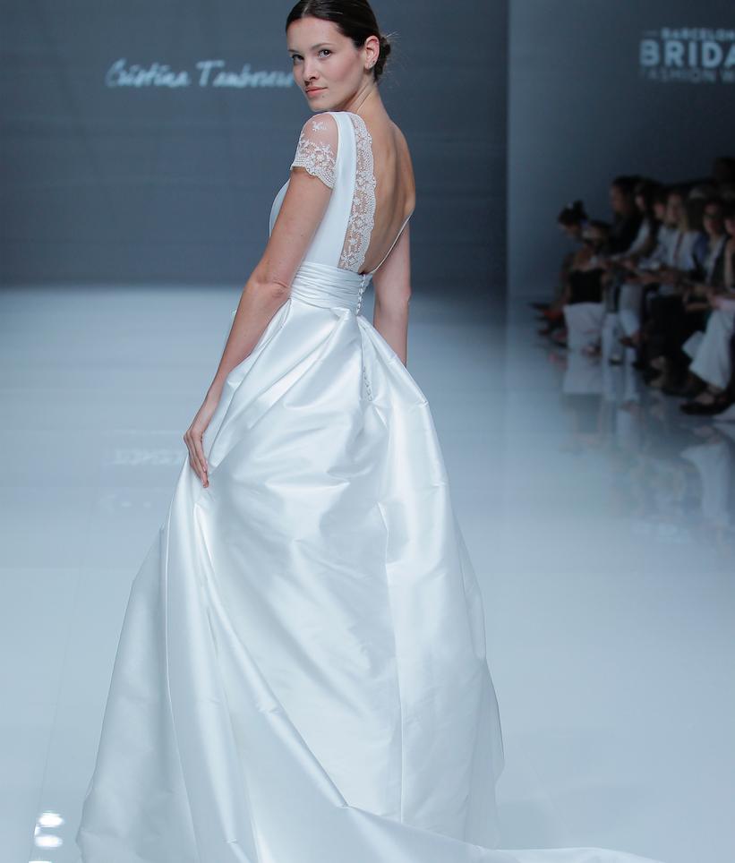 """Vestido novia """"Dafne"""" de Cristina Tamborero"""