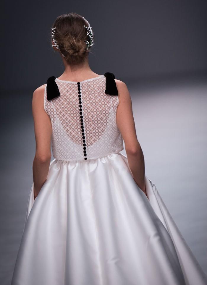 Vestido de novia princesa mikado Cristina Tamborero