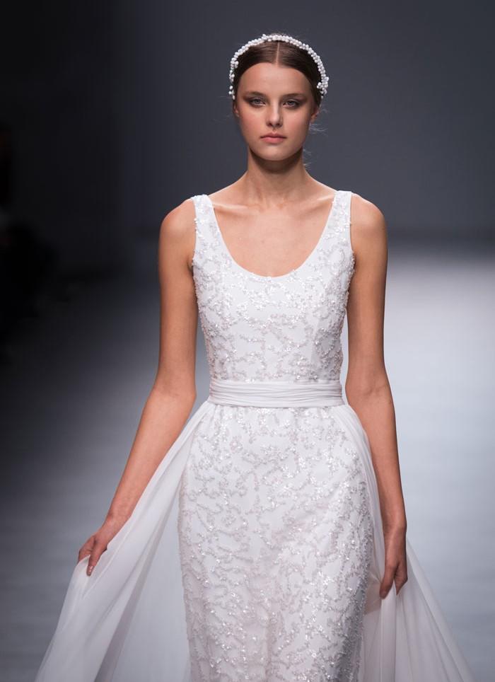 Vestido de novia pedreria Cristina Tamborero