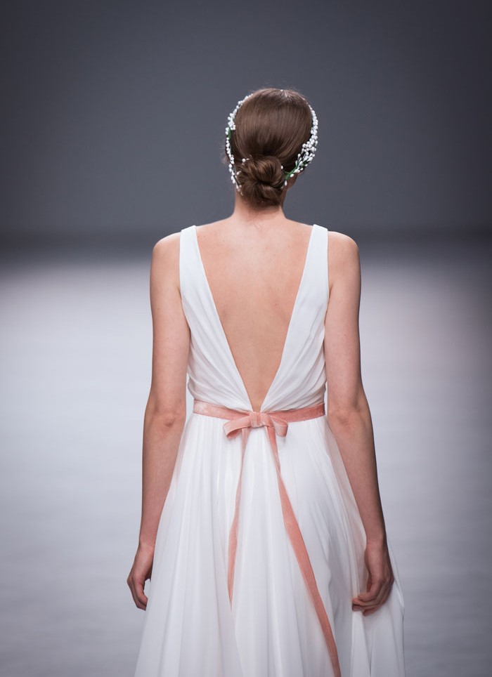 Vestido de novia gasa atelier Cristina tamborero