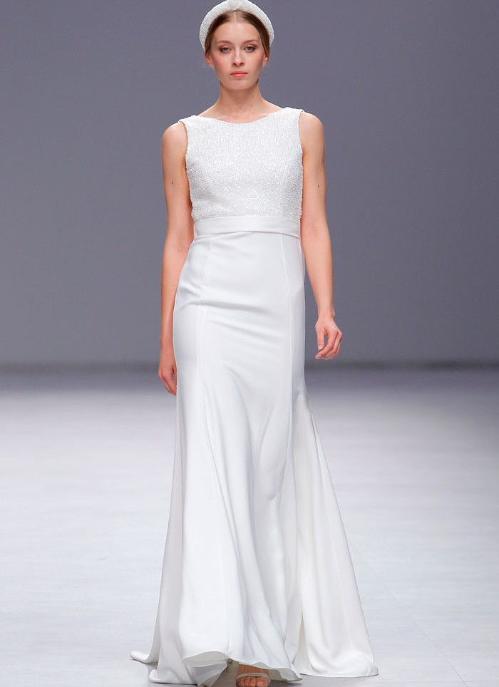 Wedding dress crep Cristina Tamborero